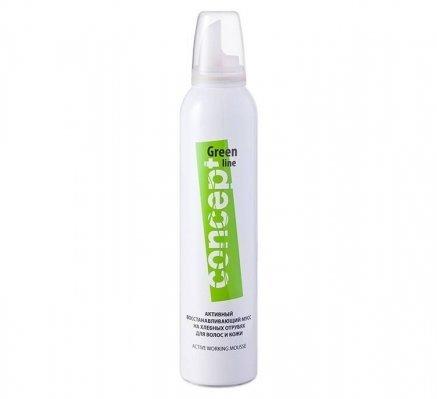 Активный восстанавливающий мусс на хлебных отрубях для волос и кожи