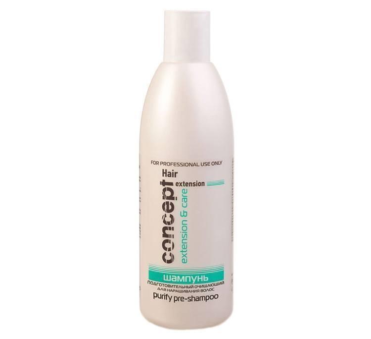 Подготовительный очищающий шампунь для наращивания волос