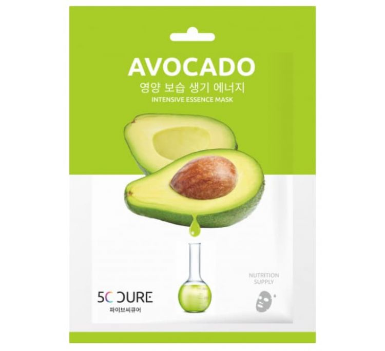 Маска для лица ампульная с экстрактом авокадо