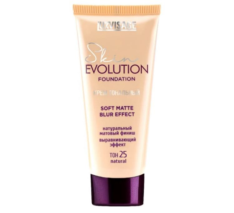Крем тональный  Skin EVOLUTION soft matte blur effect , тон 25 natural