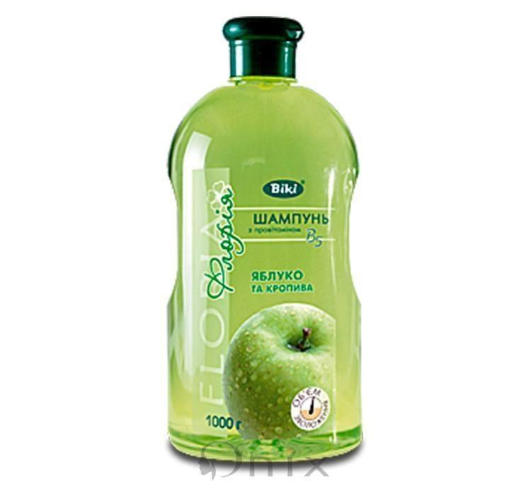Шампунь Яблоко и крапива для нормальных и жирных волос Floria