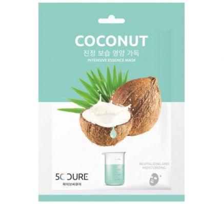 Маска для лица ампульная с экстрактом кокоса