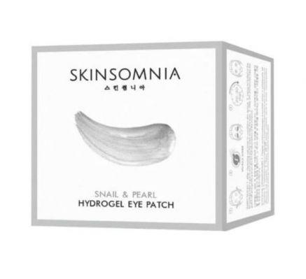 Патчи для глаз SKINSOMNIA гидрогелевые с экстрактом улитки и жемчуга, 60 шт